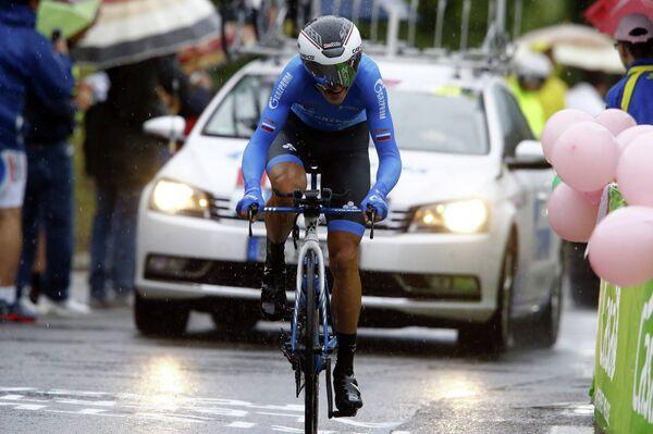 Велогонщик российской проконтинентальной команды Газпром-Русвело