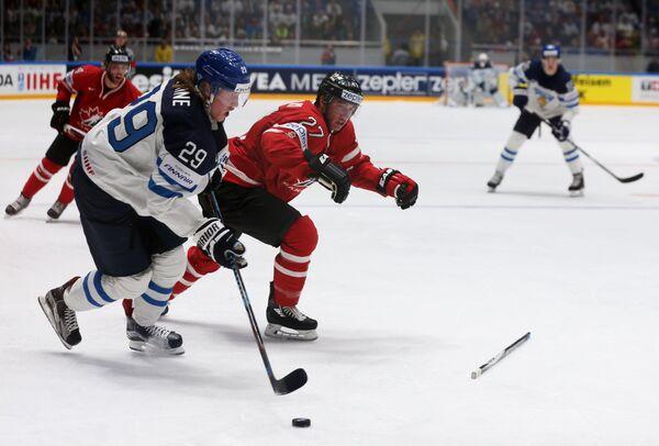 Хоккей. Чемпионат мира. Матч Канада - Финляндия