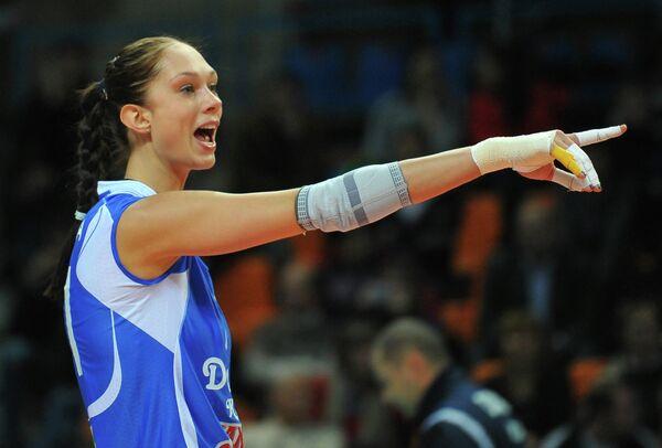 Диагональная волейбольного клуба Динамо (Казань) Екатерина Гамова