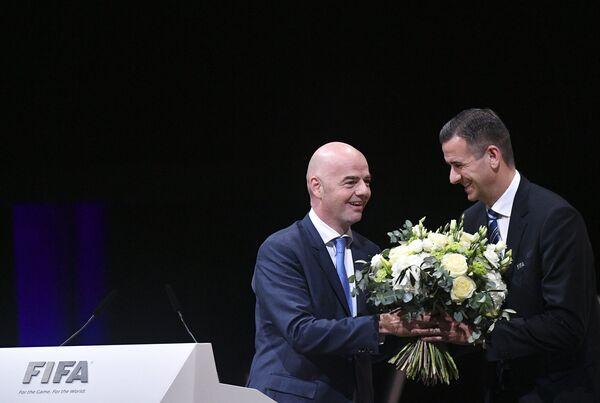 Джанни Инфантино (слева) и Маркус Каттнер