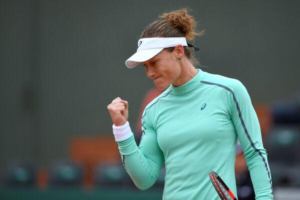 Саманта Стосур на теннисном турнире Ролан Гаррос