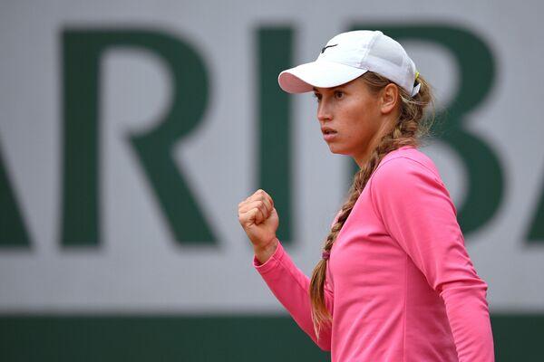 Юлия Путинцева на теннисном турнире Ролан Гаррос