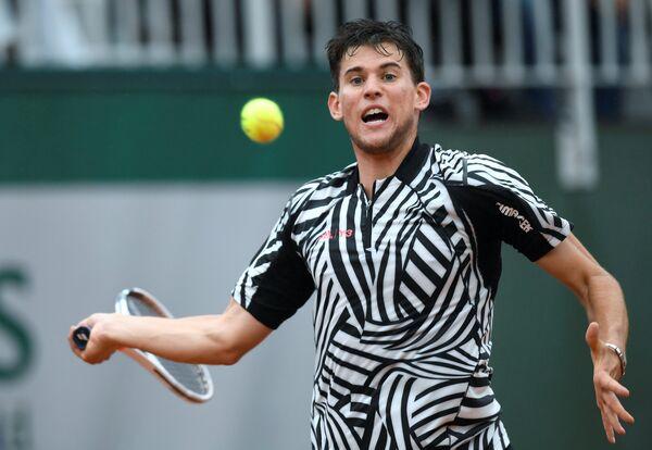 Доминик Тим на теннисном турнире Ролан Гаррос