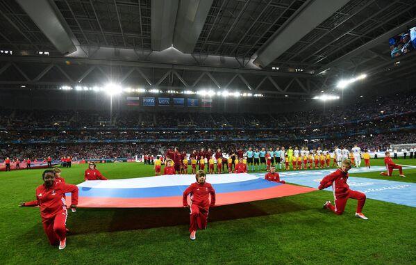 Перед началом матча Россия - Словакия