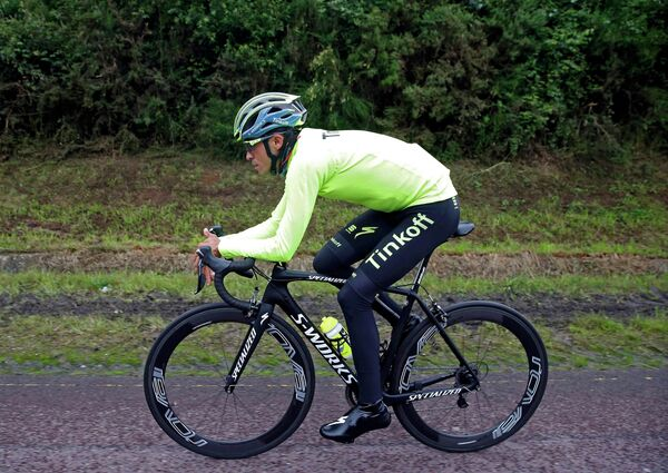 Испанец Альберто Контадор из велокоманды Tinkoff