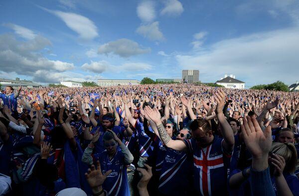 Просмотр матча Евро-2016 Франция - Исландия в Рейкьявике