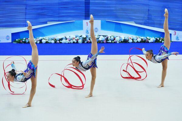 Спортсменки сборной Израиля по художественной гимнастике