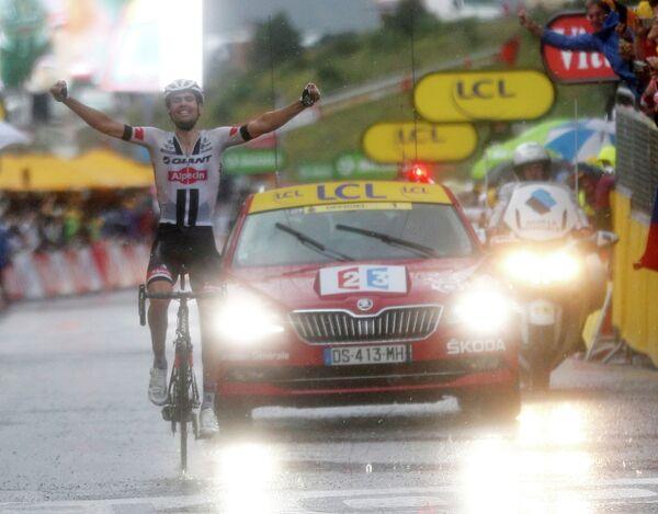 Том Дюмулен на финише 9-го этапа Тур де Франс