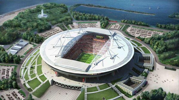 Макет стадиона Газпром-Арена в Санкт-Петербурге к ЧМ по футболу 2018 года