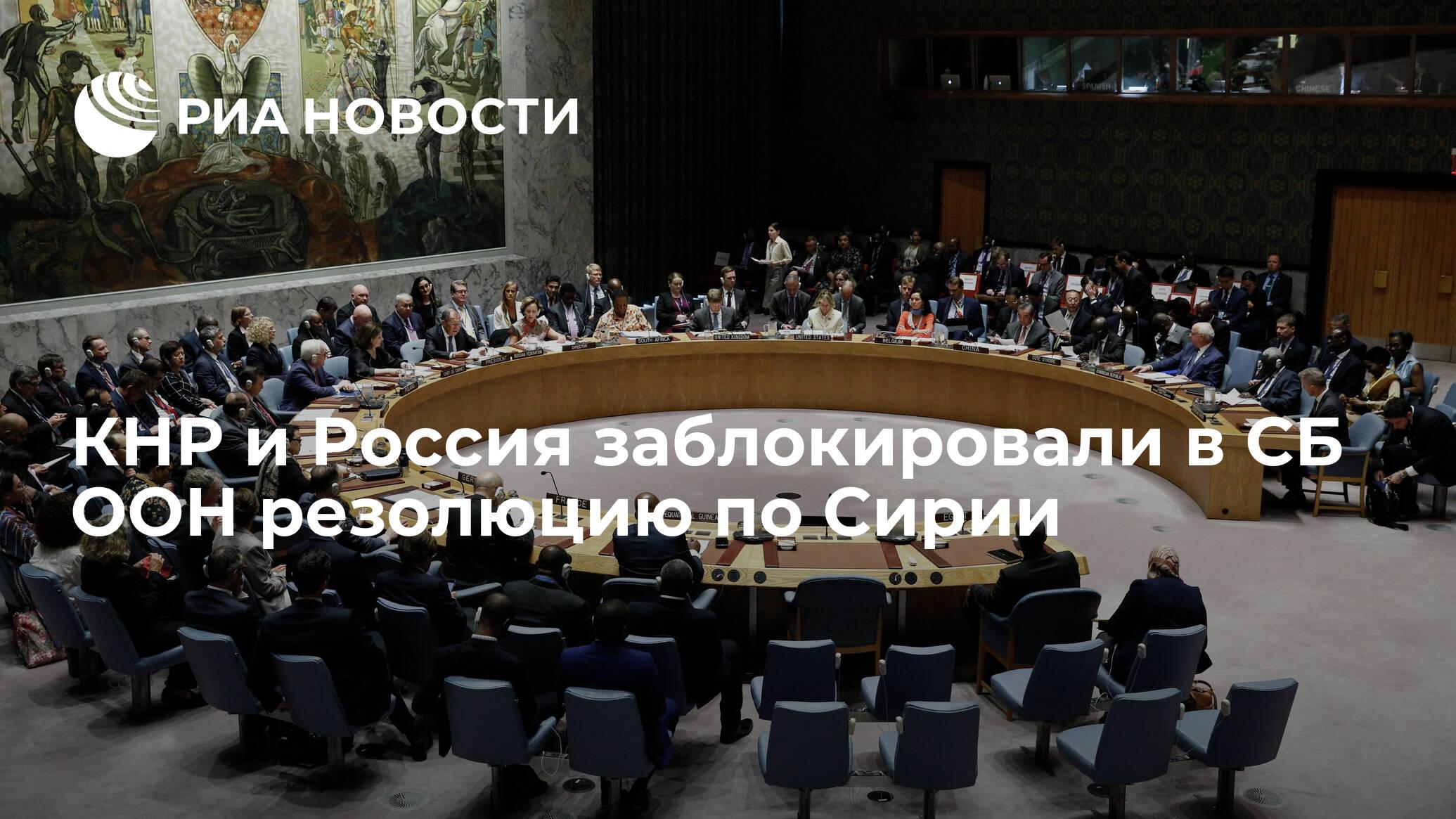 КНР и Россия заблокировали в СБ ООН резолюцию по Сирии - РИА НОВОСТИ