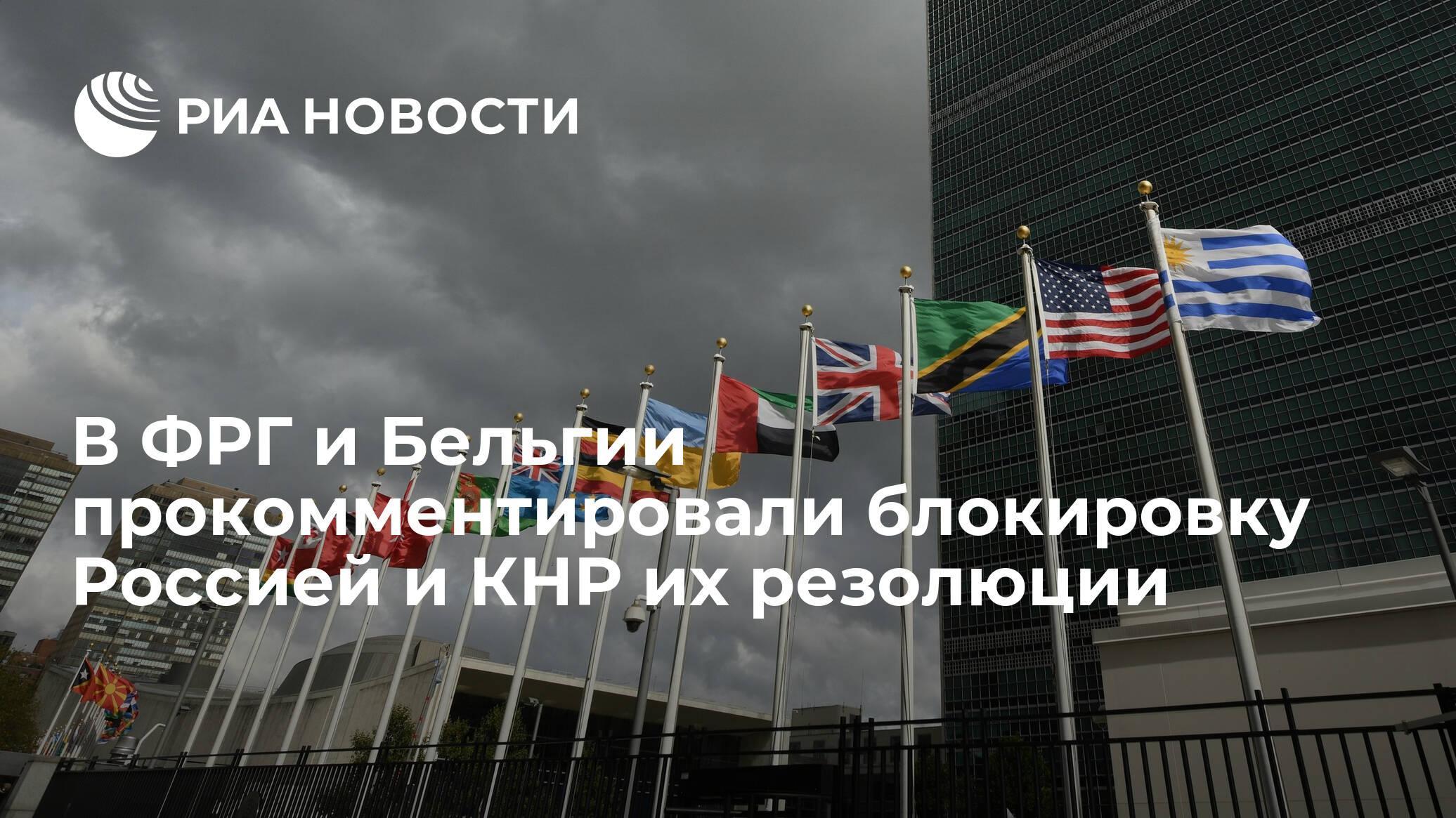 В ФРГ и Бельгии прокомментировали блокировку Россией и КНР их резолюции - РИА НОВОСТИ
