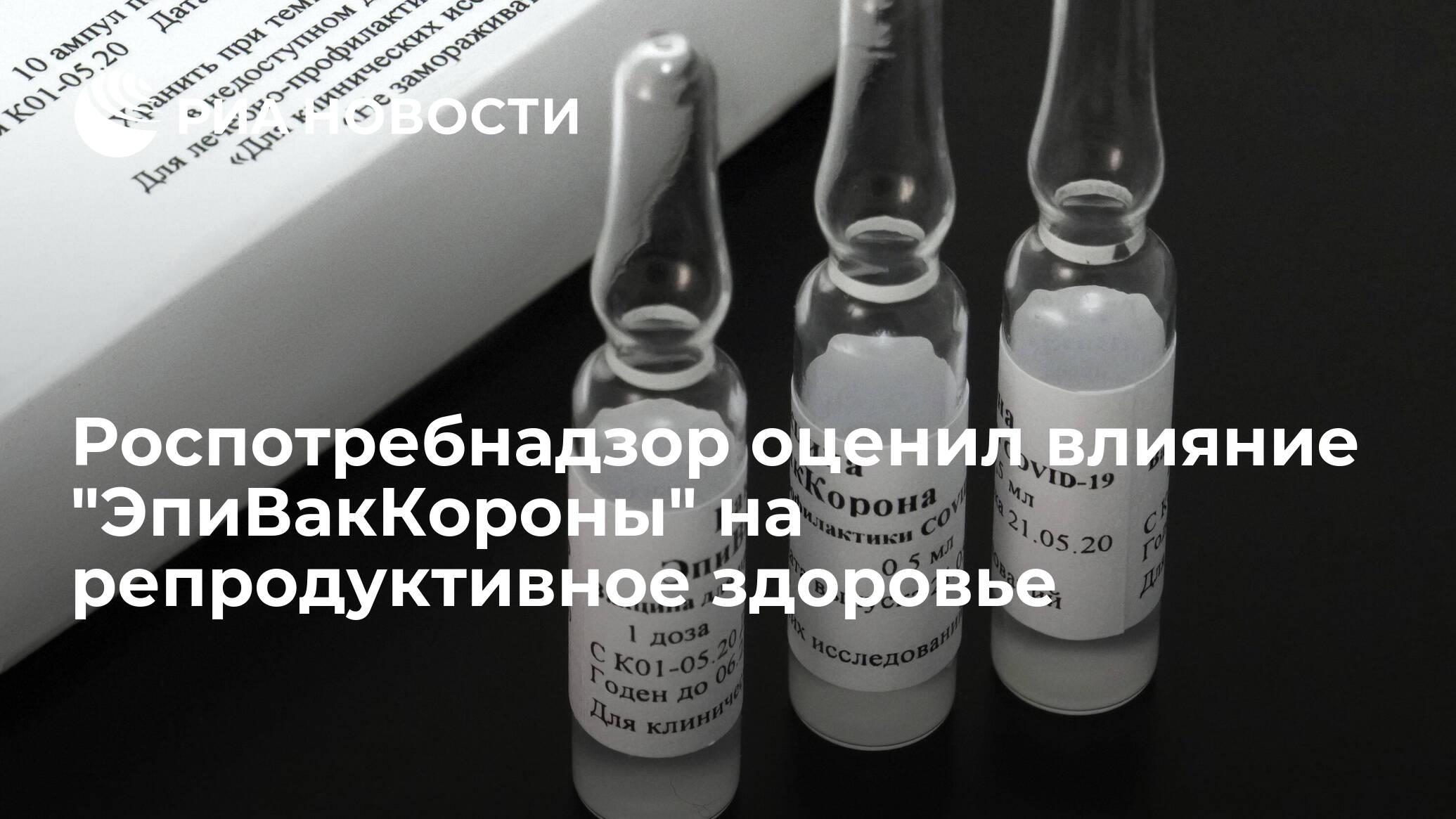 Роспотребнадзор оценил влияние 'ЭпиВакКороны' на репродуктивное здоровье - РИА НОВОСТИ