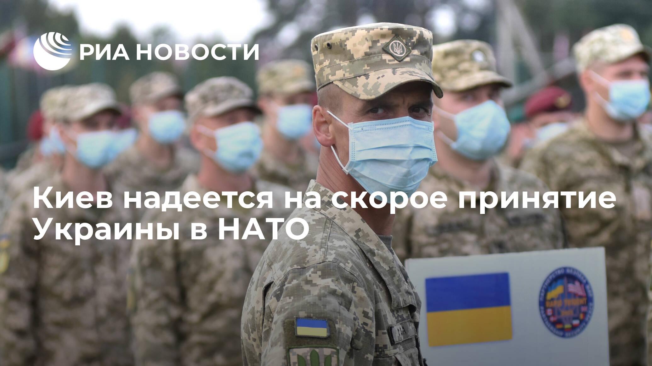 Киев надеется на скорое принятие Украины в НАТО